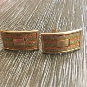 Vintage SWANK  Gold & Rose-gold Cufflinks